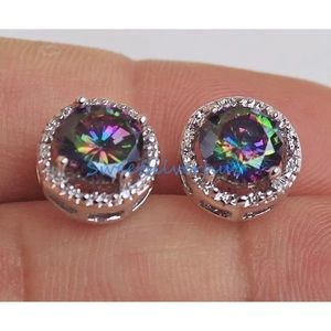 Jewelry - 3/$20...White Gold Filled Topaz Stud Earrings